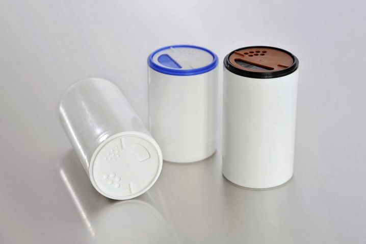 spice containers for the food processing industry